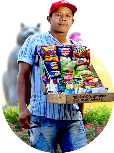 Snack seller - Real City Tours Medellin
