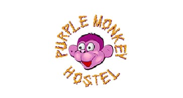 Purple monkey hostel Logo - Real City Tours Medellin